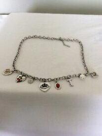 【送料無料】アクセサリー ネックレスジューシーペンダントシルバーネックレスjuicy couture original tono plata collar con colgantes