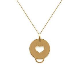 【送料無料】アクセサリー ネックレスプラークヌフコリアクールcollier mdaille coeur en plaqu or 18ct neuf longueur au choix 45cm ou 50cm