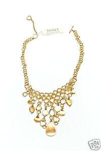 【送料無料】アクセサリー ネックレスモネゴールデントーンネックレスmonet tono dorado ncar collar 457cm adj nuevo msrp