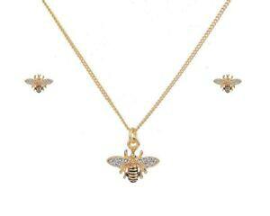 【送料無料】アクセサリー ネックレスイヤリングネックレスセットfbula oro abeja pendientes y collar conjunto