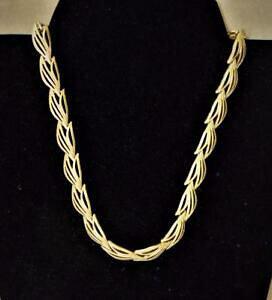 【送料無料】アクセサリー ネックレスビンテージテクスチャリンクネックレスモネゴールデントーンvintage firmado monet tono dorado con textura eslabn 432cm collar