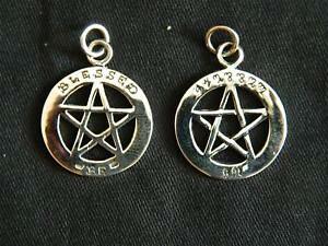 【送料無料】アクセサリー ネックレススターリングシルバーペンダント925 plata esterlina blessed be pentagrama colganteautorbrujerawiccagoth