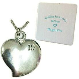 【送料無料】アクセサリー ネックレスハートネックレススタンピングquirky estao collar de corazn, estampado 10 10th aniversario de bodas regaloregalo de estao