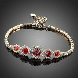 【送料無料】アクセサリー ネックレス ラウンドクラシッククリスタルブレスレットround rosso classico bracciale cristallo per donne ragazze donna kmb0019