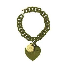 【送料無料】アクセサリー ネックレス bracciale donna ops love opsbr120 pendente cuore silicone verde oliva