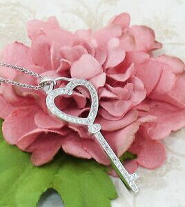 【送料無料】アクセサリー ネックレス キースターリングシルバーロマンチックネックレスchiave to my collana a cuore argento sterling love wromantico citazione