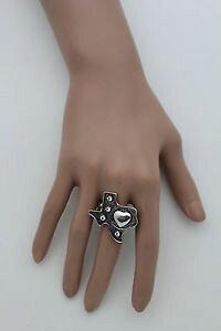 【送料無料】アクセサリー ネックレス アンティークシルバーメタルテキサスマップリングdonna argento antico metallo texas stato mappa cuore amore anello alla moda