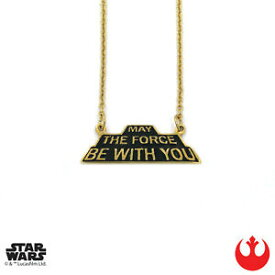 【送料無料】アクセサリー ネックレス ハンスターウォーズゴールドペンダントhan cholo star wars maggio the force be with you ciondolo oro 406cm