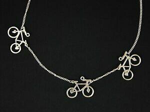 【送料無料】アクセサリー ネックレス ネックレスホイール3er bicicletta collana miniblings 45cm bicicletta cuore due ruote drahtesel