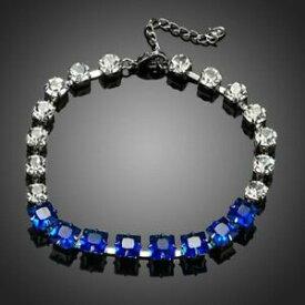 【送料無料】アクセサリー ネックレス クリアブレスレットblu e chiaro zirconi braccialetto per le donne signore ragazze kmb0064