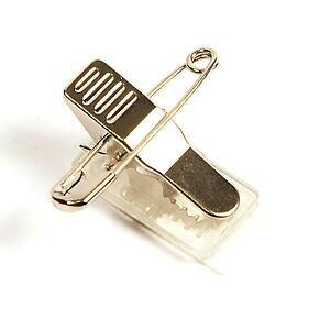 【送料無料】アクセサリー ネックレス プラスチッククリップコンビクラフトバッジ100 plastica metallo combi clip craft badge fissaggio id cm2n