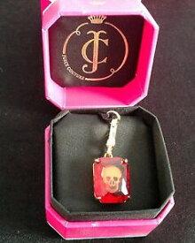 【送料無料】アクセサリー ネックレス ゴールドクリスタルスカルロゴnib juicy couture genuine boxed gold amp; red crystal skull charm engraved logo