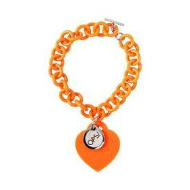 【送料無料】アクセサリー ネックレス カフオブジェクトオレンジシリコンハートペンダントbracciale donna ops objects love opsbr24 cuore pendente in silicone arancione