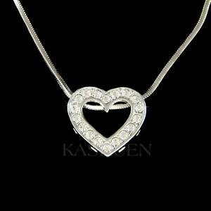 【送料無料】アクセサリー ネックレス フォームハートスワロフスキークリスタルバレンタインネックレスforma cuore cristallo swarovski valentine love mamma collana