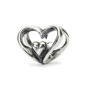 【送料無料】アクセサリー ネックレス シルバーハートビードtrollbeads bead in argento cuore a cuore tagbe10202
