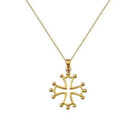 【送料無料】アクセサリー ネックレス コリアークロイロクシタンバスヌフcollier croix occitane en plaqu or 18ct neuf longueur au choix 45cm ou 50cm