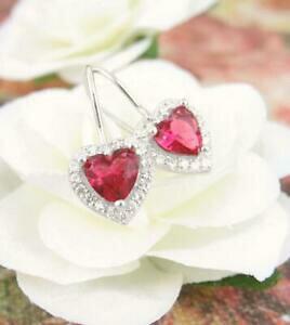 【送料無料】アクセサリー ネックレス ワイヤーピンクイヤリングrosa scuro rosso orecchini con cristalli a cuore rene filo pendente