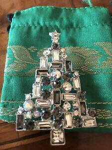 【送料無料】アクセサリー ネックレス ビンテージクリスマスツリーブローチvintage christmas tree crystals brooch
