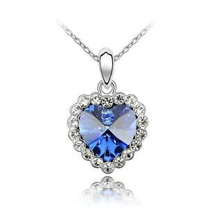 【送料無料】アクセサリー ネックレス ネックレスチェーンネックレスcollana cuore con cristallo argentoda donna catena collana amore regalo di fidanzamento