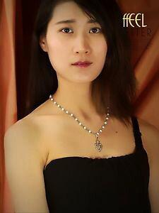 【送料無料】アクセサリー ネックレス ネックレスゴールデンショートペンダントパールリングcollana corto dorato perla pendente corona cuore pav matrimonio ddz2