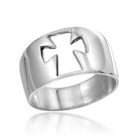 【送料無料】アクセサリー ネックレス スターリングシルバーオープンリングクロスdonna argento sterling 925 alta lucentezza aperto anello croce
