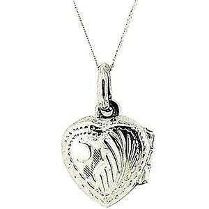 【送料無料】アクセサリー ネックレス スターリングメダイヨンチェーンインチtoc argento sterling medaglione a cuore inciso 12mm su catena di 18 pollici