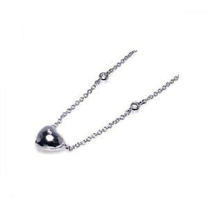 【送料無料】アクセサリー ネックレス スターリングシルバーペンダントネックレスdonna argento sterling 925 rh ciondolo a cuore 406cmadjustable collana 16
