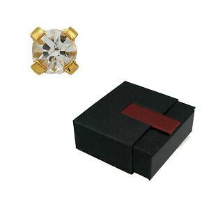【送料無料】アクセサリー ネックレス イヤリングコインクリスタルボックスstudex 75 orecchini a bottone cristallo placcato oro 4 mm confezione regalo