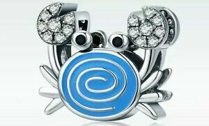【送料無料】アクセサリー ネックレス ブレスレットチェーンワタリガニ925 sterling silver charms for braceletchain blue crab