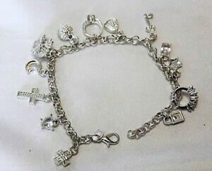 【送料無料】アクセサリー ネックレス ラインストーンクリスタルリングブレスレットペンダントクロスplaccato argento cristallo strass croce a cuore per anello braccialetto ciondoli