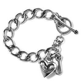 【送料無料】アクセサリー ネックレス ブランドジューシークチュールブレスレットハートラベルnuovo di zecca juicy couture bracciale cuore con etichetta j rrp 60