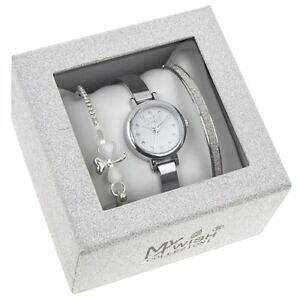 【送料無料】アクセサリー ネックレス シルバーブレスレットセットコレクションdonna argento 3 pc orologio braccialetto regalo set il mio desiderio collection