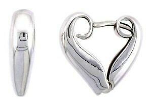 【送料無料】アクセサリー ネックレス スターリングシルバーイヤリングargento sterling 925 a cuore stretto orecchini, 13cm 13 mm