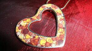 【送料無料】アクセサリー ネックレス ネックレスペンダントcollana e ciondolo interamente in argento a cuore con bella decorazione colorata