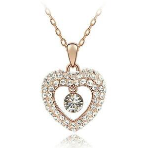 【送料無料】アクセサリー ネックレス ネックレスハートピンクゴールドネックレスチェーンcollana cuore oro rosa collana da donnada donna catena donne amore matrimonio love regalo