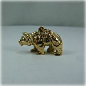 【送料無料】ネックレス ヴィンテージゴールドベアvintage 9ct gold bear charm, hallmarked 1966