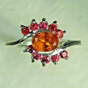 【送料無料】ネックレス オレンジサファイアシルバーkkゴールドプラチナリングrare natural orange clinohumite amp;sapphire 925 silver 14k 18k gold platinum ring