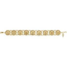 【送料無料】ネックレス 10k14kイェローゴールドbracelet***traditional saints bracelet in 10k or 14k yellow gold
