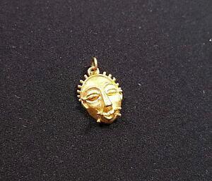 【送料無料】ネックレス ヴィンテージ18kイェローゴールドマスクチャーム3dペンダントアフリカvintage 18k yellow gold tribal mask bracelet charm 3d pendant islander african