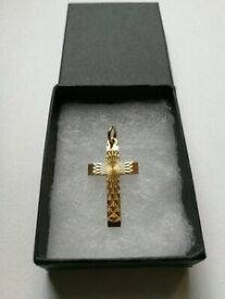【送料無料】ネックレス ゴールドクロスペンダントゲオルクイェンセングラム9ct gold cross pendant georg jensen 2gram fully hallmarked