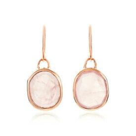 【送料無料】ネックレス モニカサイレンイヤリングローズクォーツfree shipping monica vinader siren wire earrings rose quartz