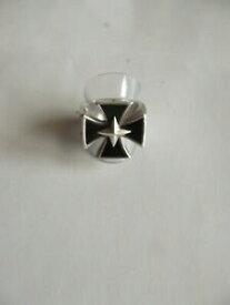 【送料無料】ネックレス ゴシックシルバークロスリングオニキス925 sterling silver jewelry soul fetish gothic silver cross ring onyx embedded