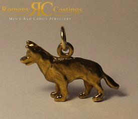 【送料無料】ネックレス ペンダントジャンプリングソリッドイエローゴールドアルザス9ct solid yellow gold alsatian dog in polished pendant jump ring stunning 41g