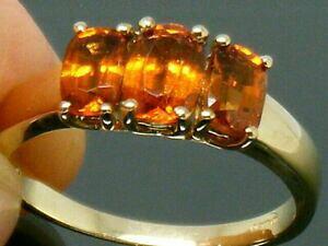 【送料無料】ネックレス ゴールドkゴールドオレンジシトリンリングサイズ9ct gold  9k gold orange citrine trilogy hallmarked ring size s