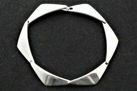 【送料無料】ネックレス ハンセンソリッドシルバーリンクピークブレスレット listinghans hansen for georg jensen hallmarked solid silver 6 link 'peak' bracelet
