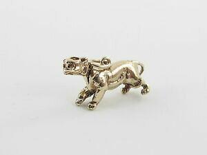 【送料無料】ネックレス イエローゴールドヘッドペンダント14k yellow gold 3 d wild cat panther moveable head charm pendant