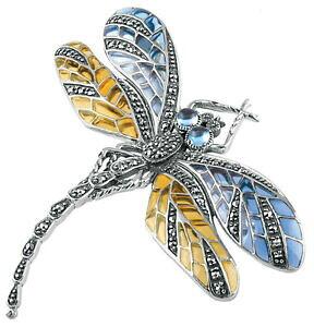 【送料無料】ネックレス ノーマンスターリングシルバートンボブローチボックスari d norman sterling silver dragonfly brooch gift box hallmark mum wife