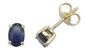 【送料無料】ネックレス サファイアスタッドイヤリングセットsapphire claw set studs earrings