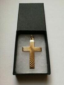 【送料無料】ネックレス ゴールドクロスペンダントグラムrare 9ct gold georg jensen cross pendant 504grams fully hallmarked *stunning*