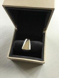 【送料無料】ネックレス ビンテージスターリングシルバープラザリング#vintage georg jensen sterling silver plaza ring 141